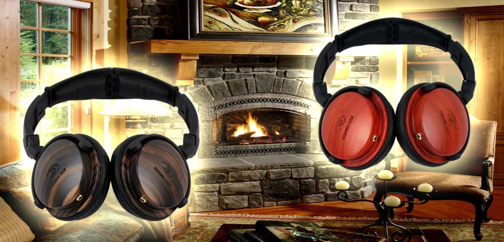 Portable & Foldable On Ear Wooden Headset-New!