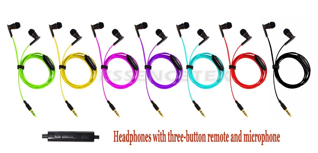 Multi Color Wired Wood Earphone
